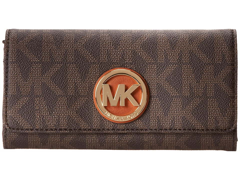 MICHAEL Michael Kors - Fulton Carryall (Brown) Clutch Handbags