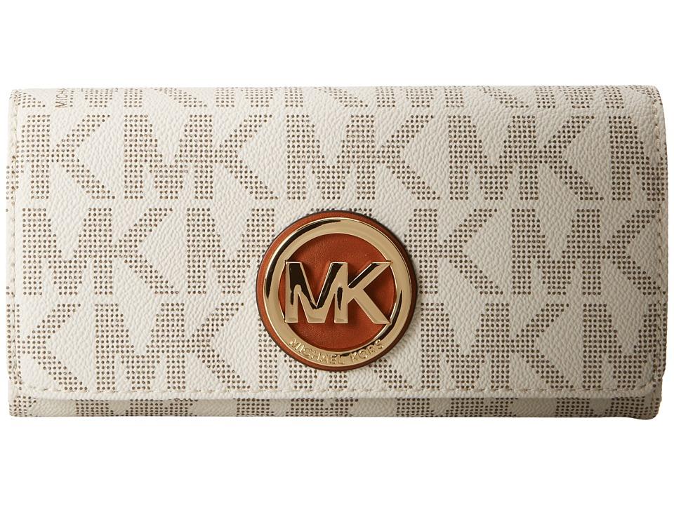 fb5b1eeab357 888235212784 UPC - Michael Kors Fulton Wallet Womens Vanilla Wallet ...