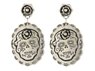 Gypsy SOULE Sugar Skull Earrings (Silver)
