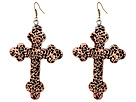 Gypsy SOULE Antiqued Cross Drop Earrings (Copper)