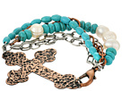 Gypsy SOULE - Antiqued Cross Bracelet (Copper/Turquoise)