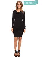 Michael Stars - Exclusive L/S Drape Neck Dress w/ Shirring
