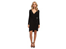 Michael Stars L/S Wrap Dress w/ Belted Waist