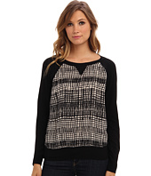 Michael Stars - Park Ave Silk Print L/S Sweatshirt