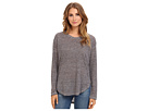 Michael Stars Linen Knit Striped L/S Scoop Neck