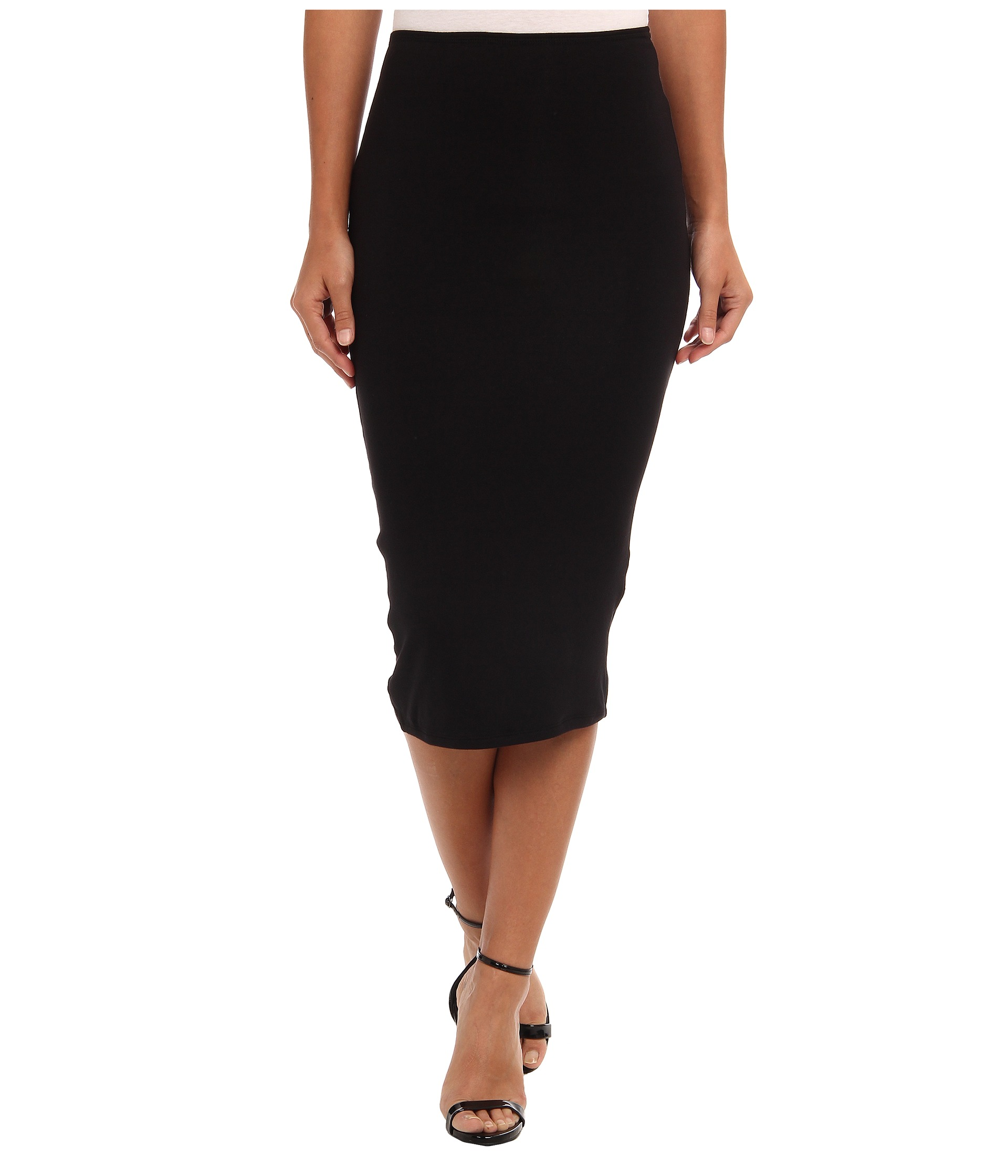 Dknyc Pull On Pencil Skirt W F Black, Black | Shipped Free at Zappos