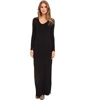 Michael Stars - L/S V-Neck Maxi Dress w/ Side Slits
