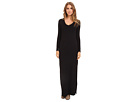Michael Stars L/S V-Neck Maxi Dress w/ Side Slits