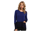 Michael Stars Cashmere Blend L/S Crew Neck Pullover w/ Pockets