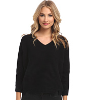 Michael Stars - Chunky Rib 3/4 Sleeve High-Low V-Neck Sweater