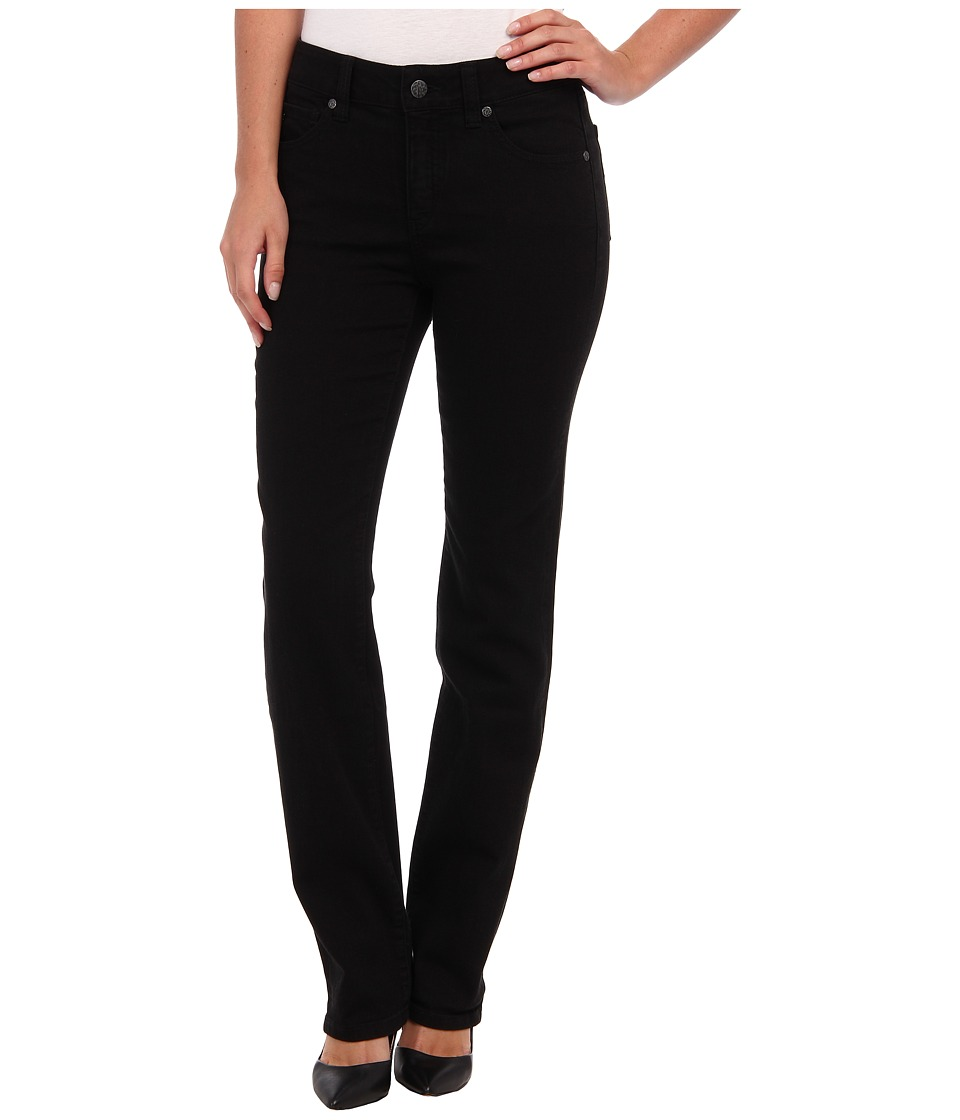Miraclebody Jeans Katie Straight Leg in Jet Black Jet Black Womens Jeans