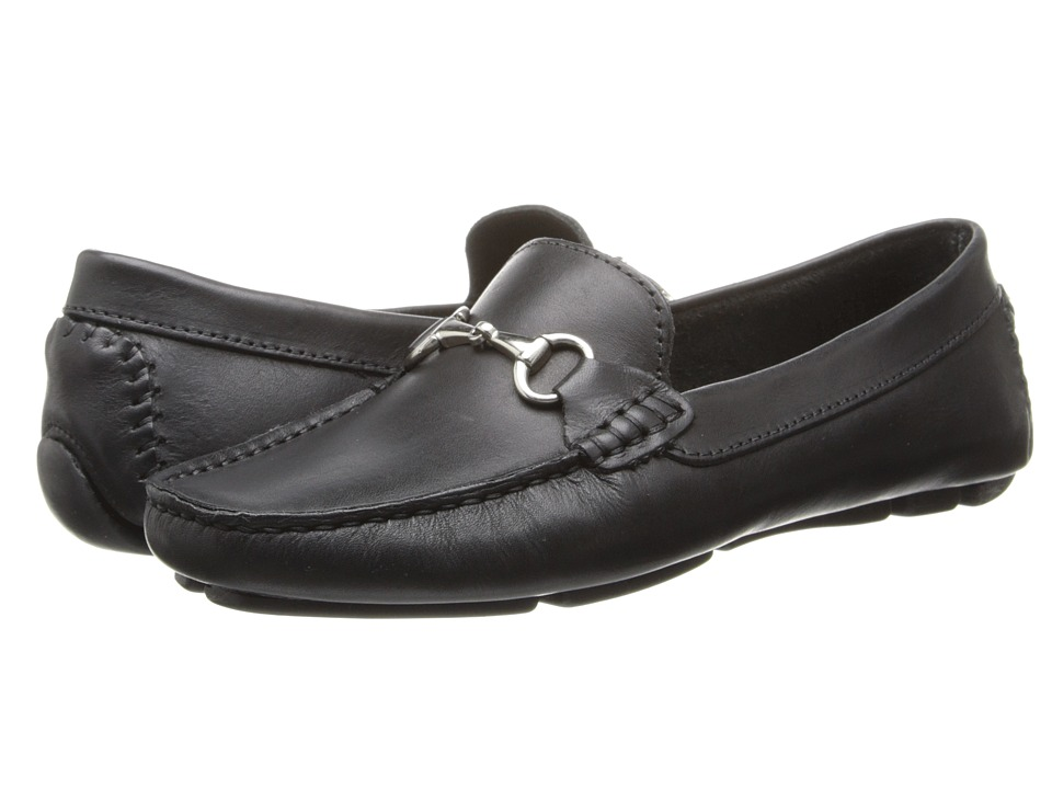 Massimo Matteo - Driver With Bit (Black Bison/Shiny Silver) Womens Moccasin Shoes