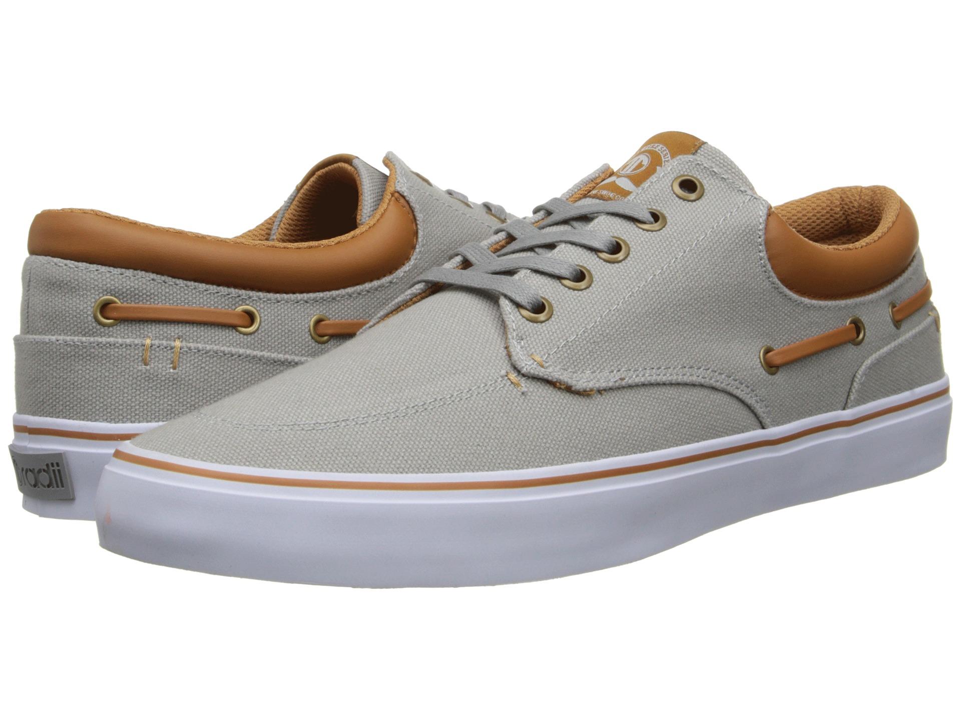 radii footwear deck grey brown canvas zappos free