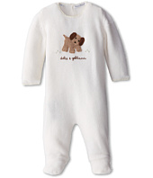 Dolce & Gabbana Kids - Puppy Print Long Sleeve Footed Romper (Infant)