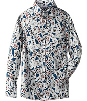Dolce & Gabbana - Long Sleeve Card Print Button Up Shirt (Big Kids)