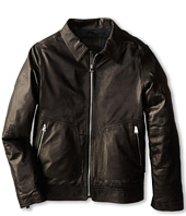 Dolce & Gabbana Kids - Zip-Up Leather Jacket (Big Kids)