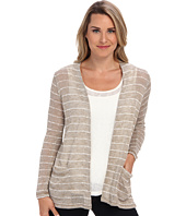 Miraclebody Jeans - Striped Sweater Knit Boyfriend Cardi Twin Set w/ Body-Shaping Inner Shell