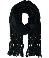 San Diego Hat Company - BSS1422 Knit Scarf with Tassels & Gold Studs