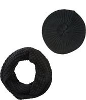 San Diego Hat Company - KNH3336 Waffle Knit Scarf & Beret Set