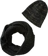 San Diego Hat Company - KNH3334 Lurex Knit Infinity Scarf & Beanie Set