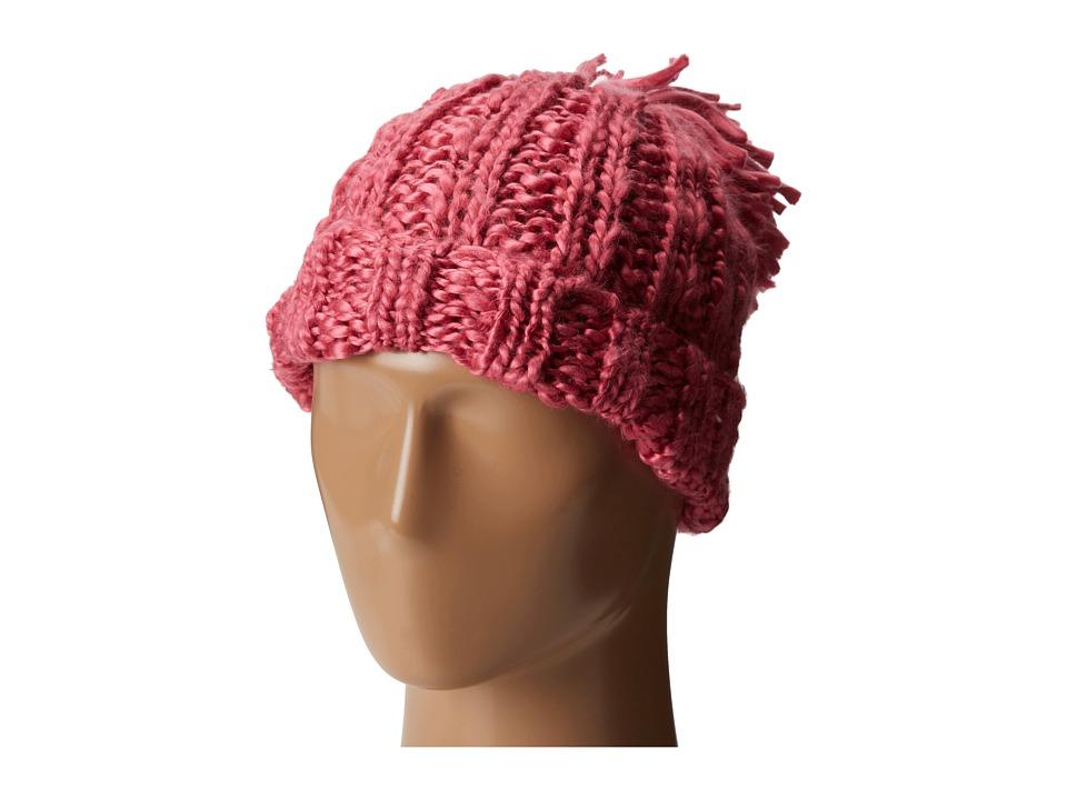 San Diego Hat Company KNH3318 Oversized Rib Knit Beanie with Oversized Pom Pom Shocking Pink Beanies