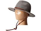 San Diego Hat Company WFH7918 2.5 Brim Felt Fedora w/ Leather Band Chin Cord