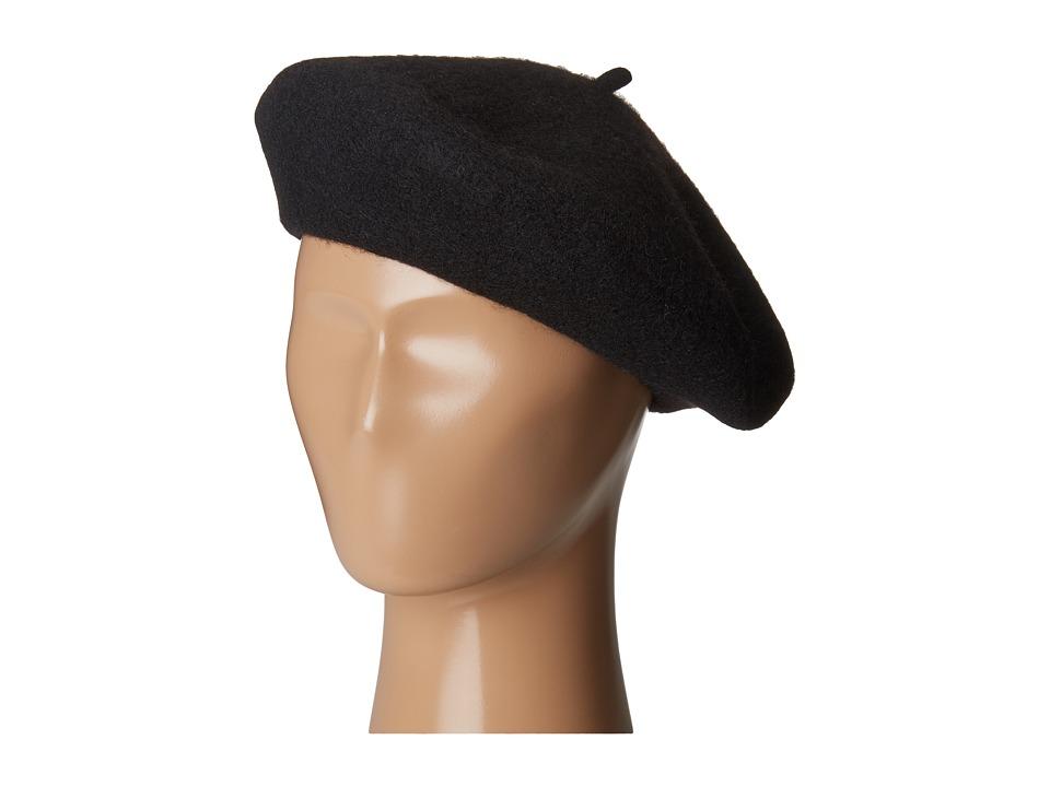 1940s Hats History San Diego Hat Company - WFB2006 Wool Felt Beret Black Berets $30.00 AT vintagedancer.com