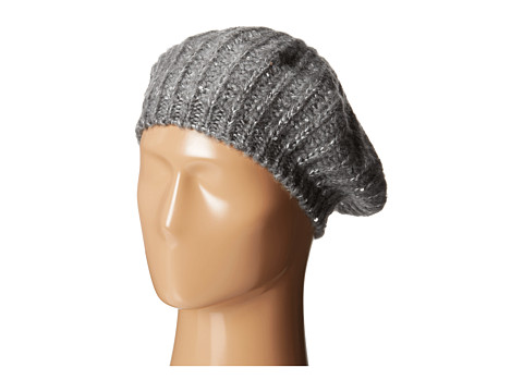 San Diego Hat Company KNH3302 Sequin Knit Beret - Silver