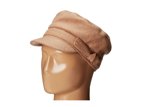 San Diego Hat Company CTH3708 Wool Blend Cabbie with Self Belt & Bow - Camel