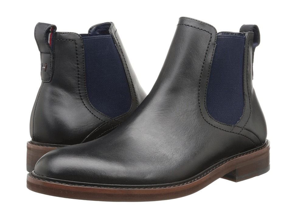 Tommy Hilfiger Charlton Black Mens Dress Pull on Boots