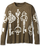 Dolce & Gabbana - Oversized Key Print Long Sleeve T-Shirt (Big Kids)