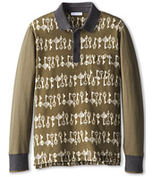 Dolce & Gabbana Kids - Key Print Long Sleeve Polo (Big Kids)