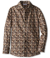 Dolce & Gabbana - Long Sleeve Key Print Button Up Shirt (Big Kids)