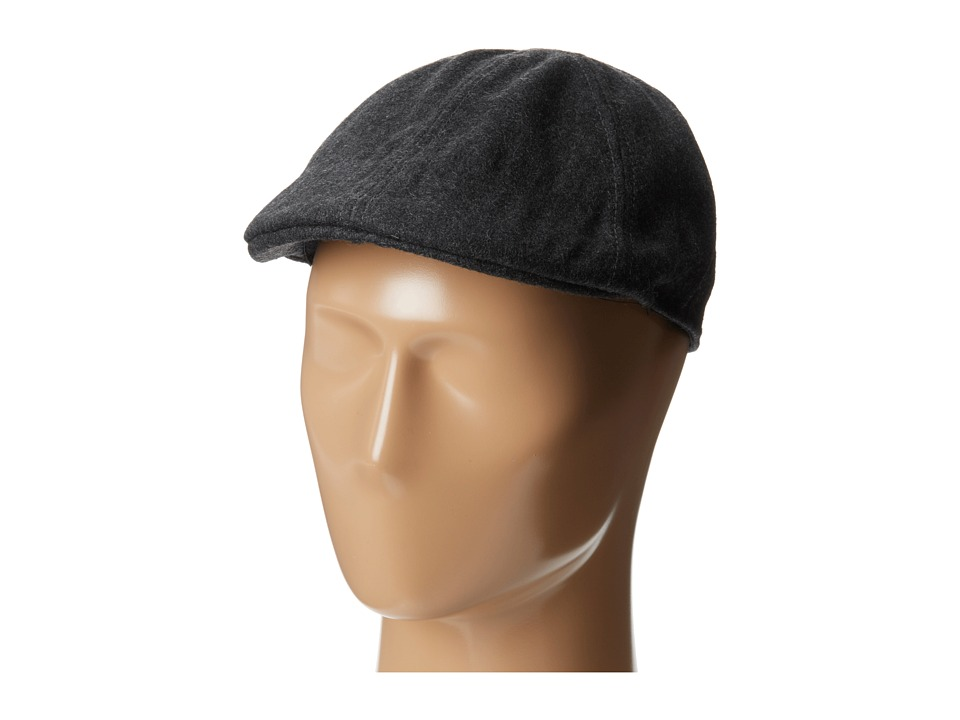 San Diego Hat Company - CTH3722 Wool 6 Panel Driver with Inner Stretchband (Charcoal) Driving Hats