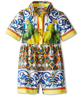 Dolce & Gabbana - Graphic Print Short Sleeve Romper (Infant)