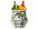 Dolce &amp; Gabbana - Graphic Print One-Piece Swimsuit (Infant) (Print) - Apparel<br />