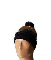 San Diego Hat Company Kids - KNK3278 Camo Knit Beanie with Solid Cuff & Pom Pom (Little Kids)