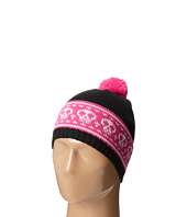 San Diego Hat Company Kids - KNK3272 Skull Intarsia Stripe Knit Beanie with Pom Pom (Little Kids)