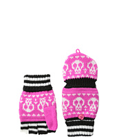San Diego Hat Company Kids - KNK3276 Skull Intarsia Stripe Knit Pop Over Fingerless Gloves (Little Kids)