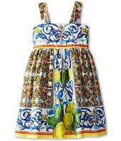 Dolce & Gabbana - Graphic Print Babydoll Dress (Big Kids)