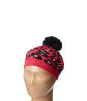 San Diego Hat Company Kids - KNK3264 Knit Leopard Beret with Black Pom Pom (Little Kids)