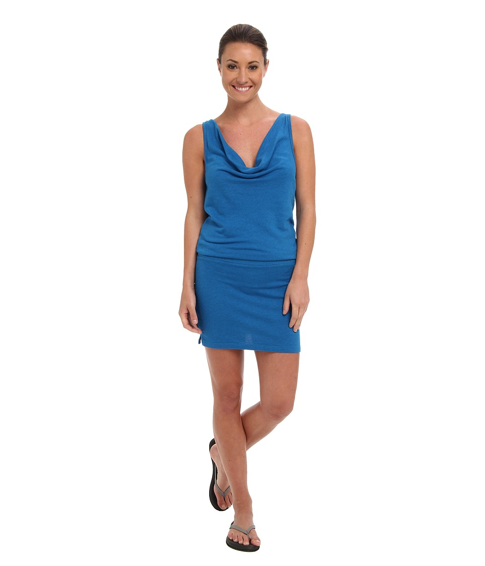 Beyond Yoga - Tank Mini Dress (Heather Deep Sea Blue) Women's Dress plus size,  plus size fashion plus size appare