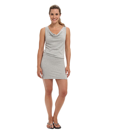 Shop Beyond Yoga online and buy Beyond Yoga Tank Mini Dress Light Heather Grey Online - Beyond Yoga - Tank Mini Dress (Light Heather Grey) - Apparel: This Beyond Yoga dress offers high-style with a flattering fit. ; Relaxed fit gently drapes off the body for comfort during everyday activity. ; Lightweight blend of rayon and polyester boasts a beautiful feminine drape. ; Sexy cowl neckline. ; Sleeveless construction. ; Blouson waistline. ; Straight hemline with notched side seams. ; 50% rayon, 50% polyester. ; Machine wash cold, tumble dry low. ; Made in the U.S.A. and Imported. Measurements: ; Length: 40 in ; Product measurements were taken using size XS (US 2-4). Please note that measurements may vary by size.