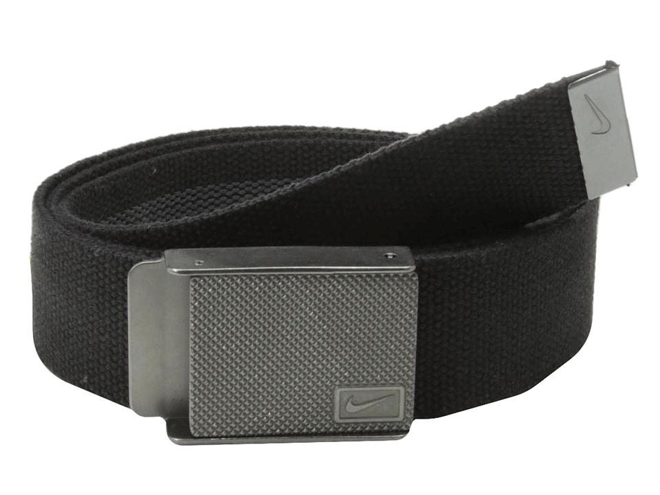 Nike - Nike Rubber Inlay Reversible Web (Black) Men's Belts