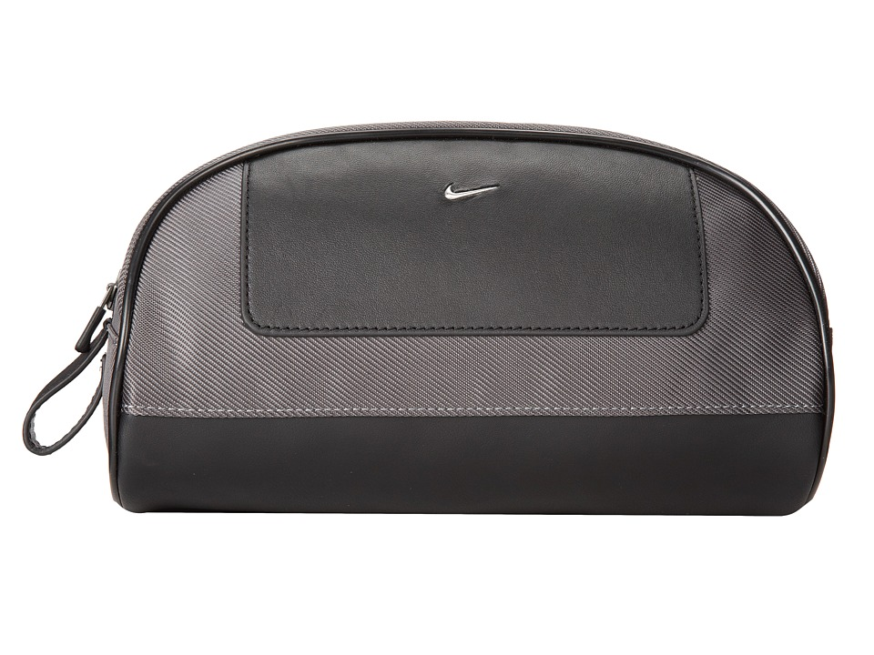 Nike - Nike Leather/Tech Twill Travel Kit (Dark Grey) Travel Pouch