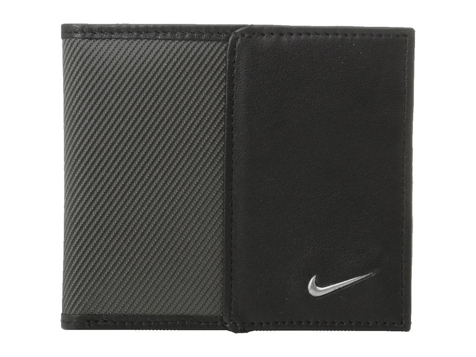 Nike - Nike Leather/Tech Twill Billfold (Dark Grey) Bill-fold Wallet