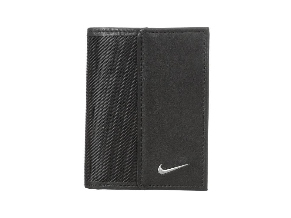 Nike - Nike Leather/Tech Twill Credit Card Fold (Black) Credit card Wallet