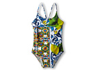 Dolce &amp; Gabbana - Graphic Print One-Piece Swimsuit (Toddler/Little Kids/Big Kids) (Print) - Apparel<br />