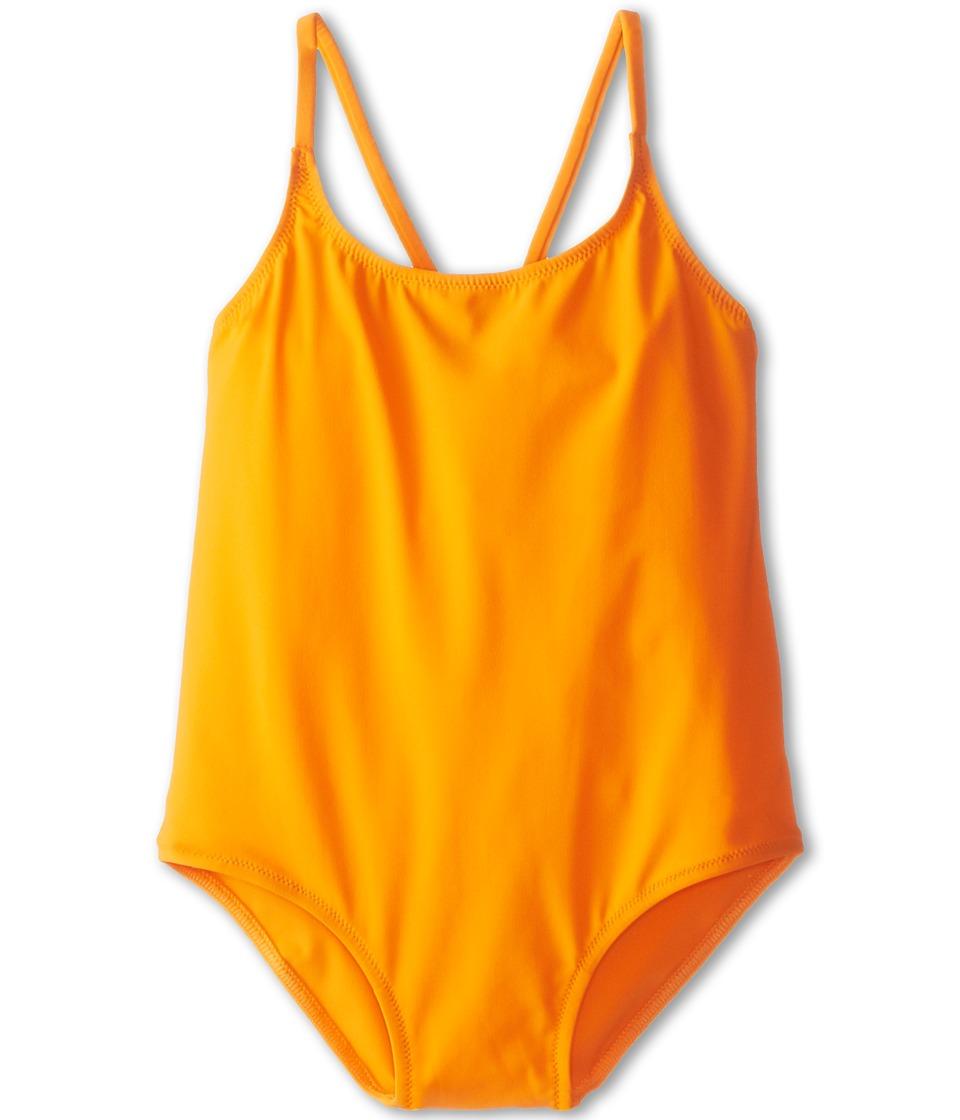 Dolce &amp; Gabbana Solid One-Piece Swimsuit (Toddler/Little Kids/Big Kids) (Dark Orange) Women's Swimsuits One Piece<br />