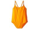 Dolce &amp; Gabbana - Solid One-Piece Swimsuit (Toddler/Little Kids/Big Kids) (Dark Orange) - Apparel<br />